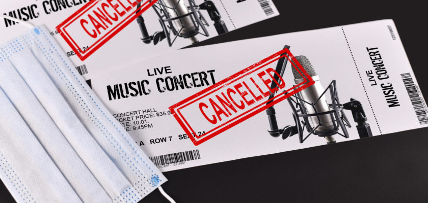 возврат денег за билеты на концерт